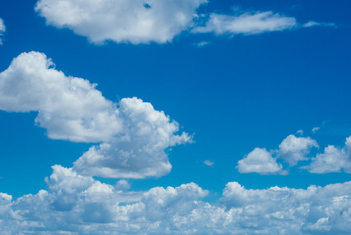 Beautiful cloud photography on blue skies
