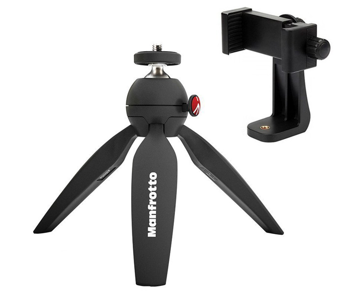 The Manfrotto B PIXI smartphone or iPhone tripod