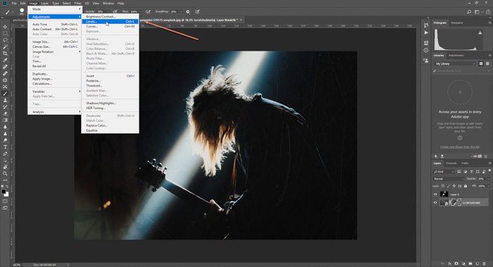 Screenshot of how to add a textured background to a photo