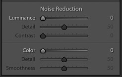 screenshot of adjusting the noise of an image on Lightroom for product photography editing