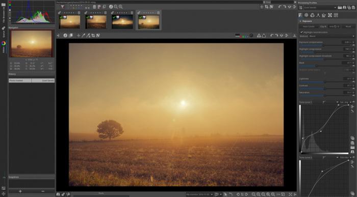 A screenshot of editing images on rawtherapee