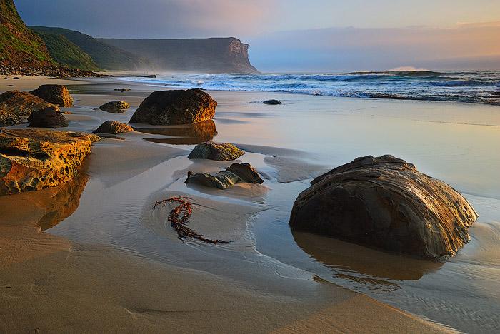A stunning beach seascape shot using side natural light