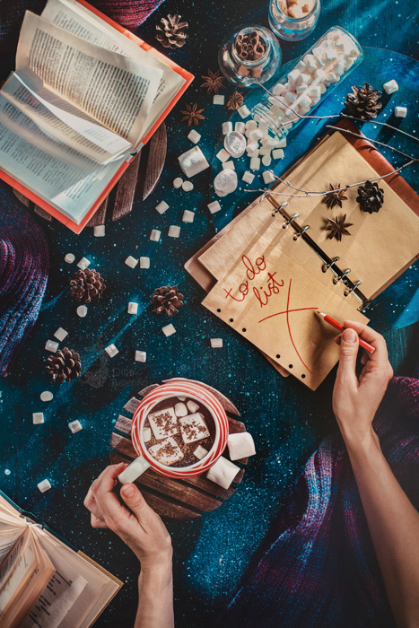 A magical Christmas still life photography shot