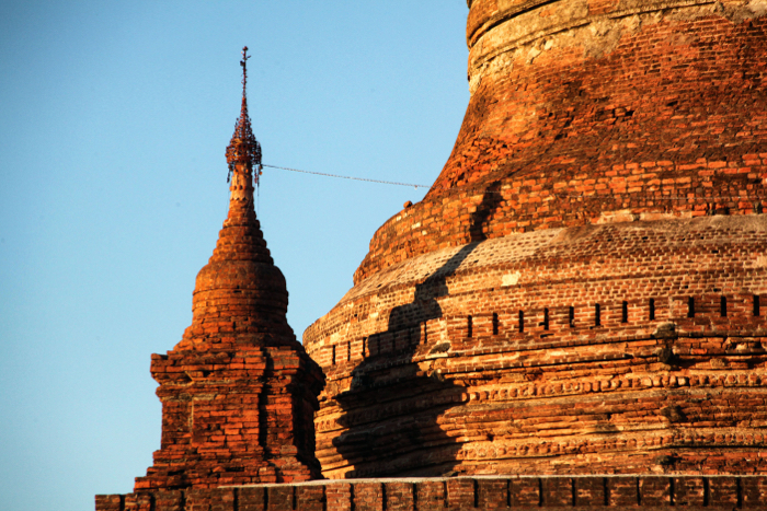 A travel photo of an ancient building shot at golden hour