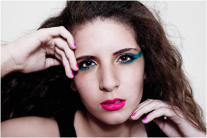 Expressive beauty portrait of a female model - hairdressing photography example