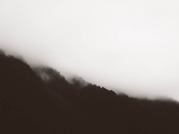 An abstract minimal landscape shot on a cloudy day