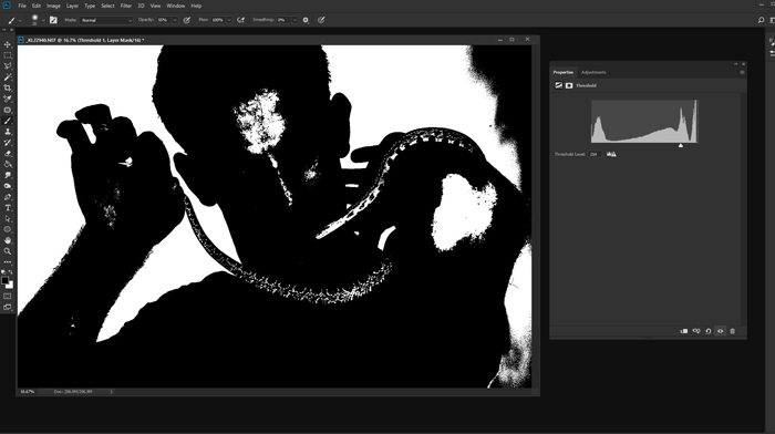 Screenshot of creating a n all white background in photoshop