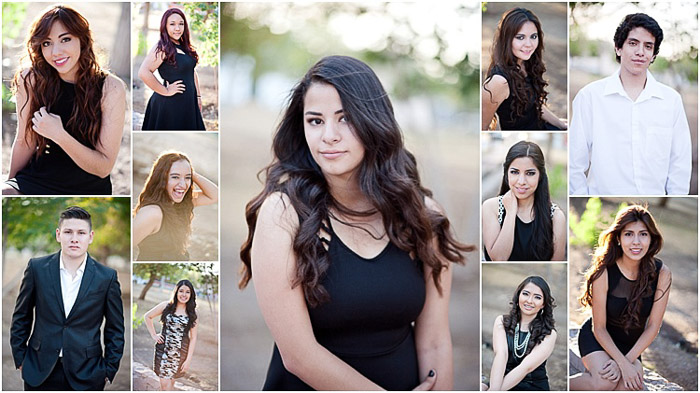 A grid of various senior photos
