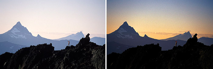 A mountainous landscape diptych at Mt. Washington, Oregon
