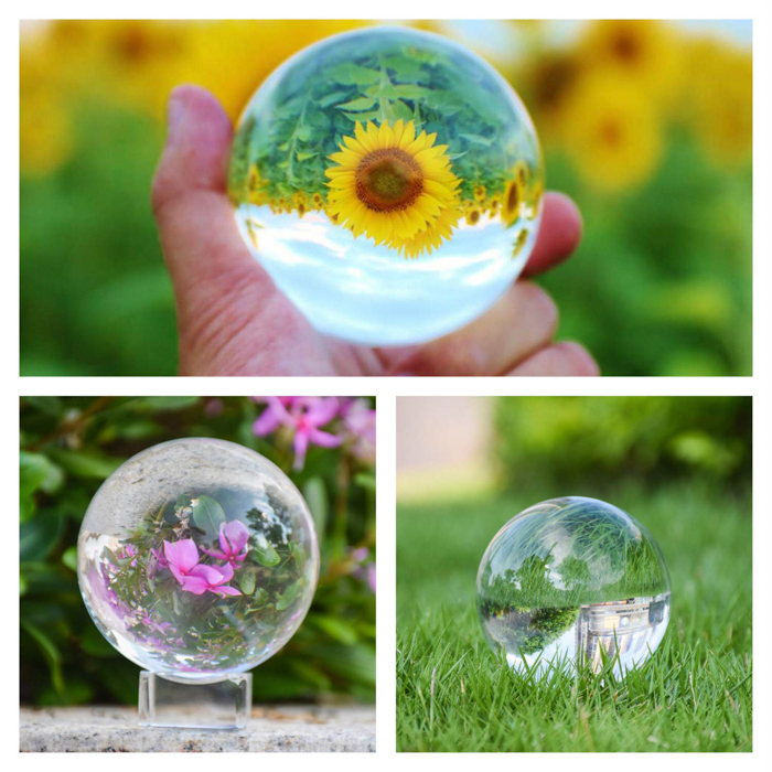 Photograph Crystal Ball With Stand and Pouch