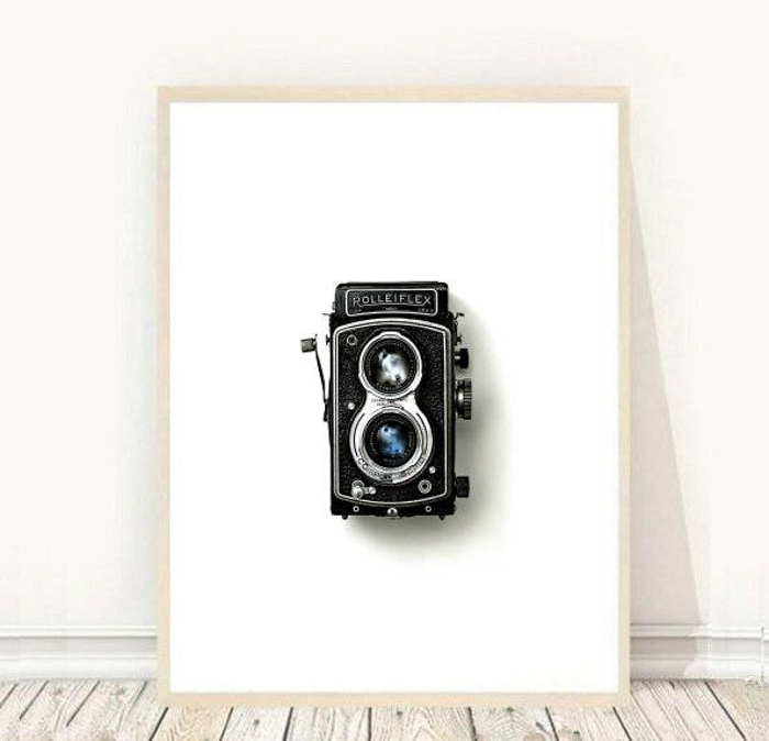 Vintage Camera Wall Art Print - best Christmas gifts for photographers