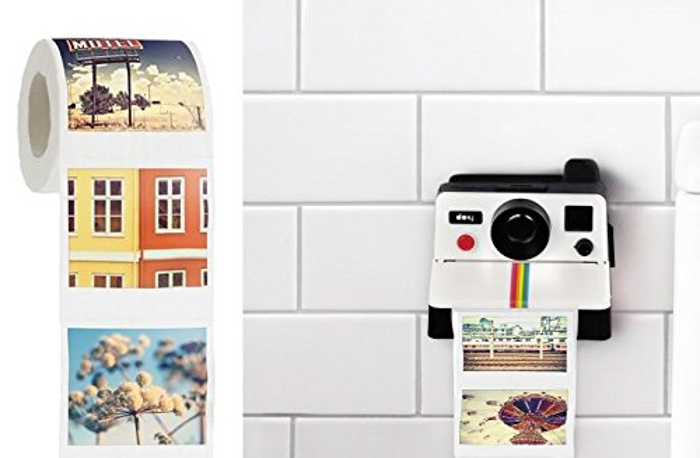 Polaroll Polaroid Camera Shaped Toilet Paper Roll Holder