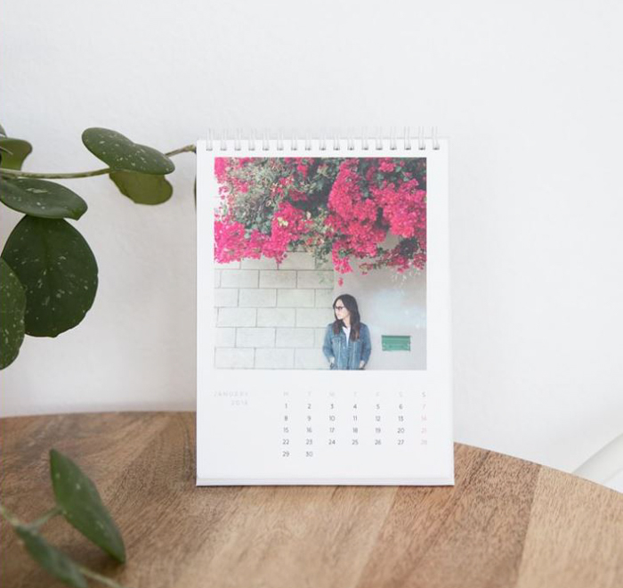 A personalised photography desk claender - best Christmas gifts for photographers
