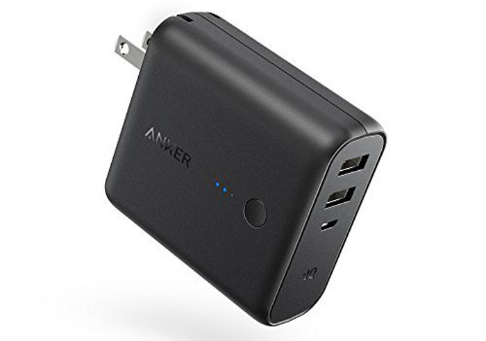 Anker PowerCore Fusion 5000mAh, Dual Port 2-in-1 Portable Charger and Wall Charger