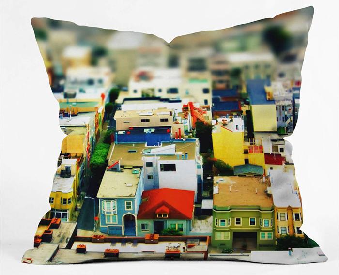 DENY Mini City Throw Pillow - photography christmas gift ideas