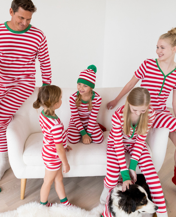 A family in matching christmas outfits - great Christmas photo cards ideas