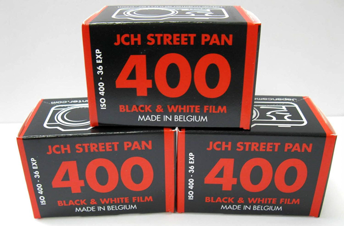 Three boxes of Japan Camera HunterStreet Pan ISO 400 Black & White Film - Christmas gifts for photographers