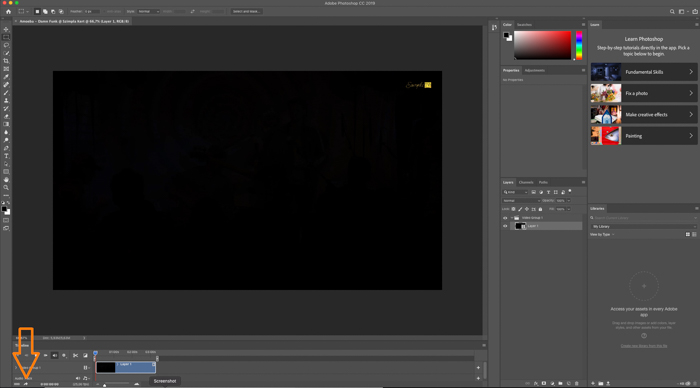 A screenshot showing how to render a video in Photoshop