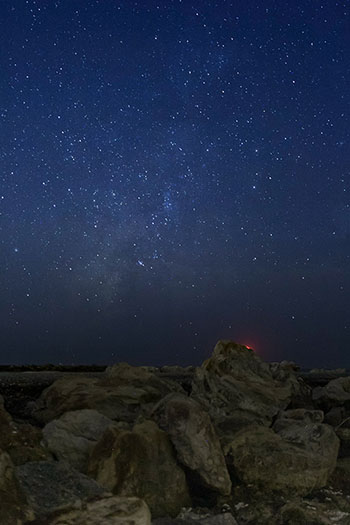 A night landscape shot
