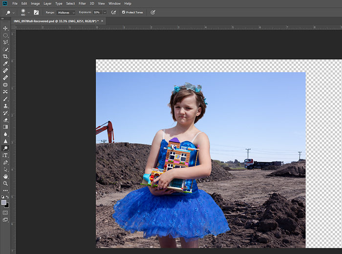 screenshot of how to use the photoshop quick selection tool