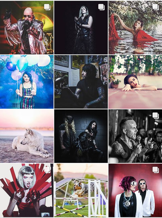 A screenshot of a photographers instagram page
