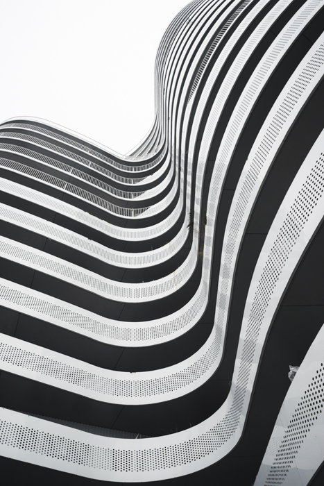 A black and white architecture image