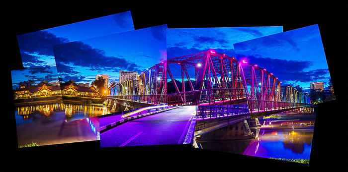 A photomontage of a bridge, how to use the brenizer method