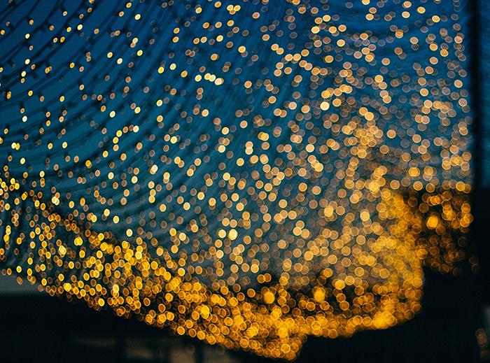 Bokeh luzes de natal