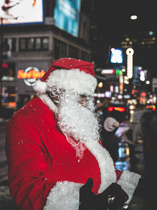 A Christmas portrait of a Santa Claus