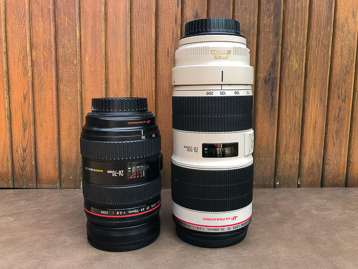 Two lenses for stock photography shots