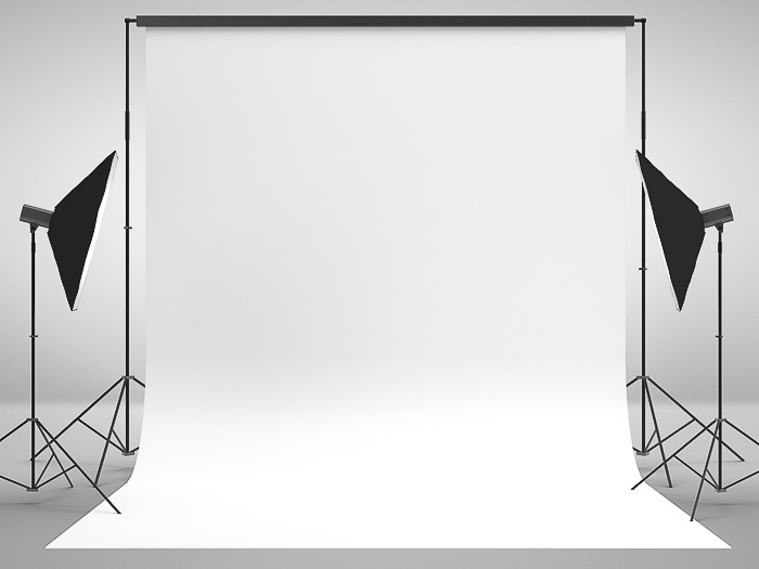 Studio lighting setup for stock photography
