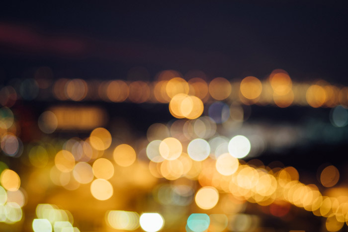 Beautiful abstract photography example with bokeh