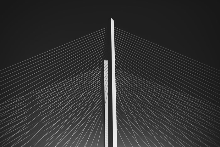 Black and white abstract photo of architecture