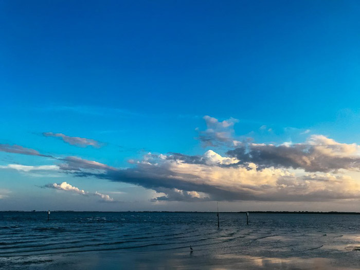 A HDR iPhone photography shot of cloud over a seascape