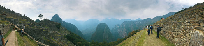 A stunning panoramic picture of a mountainous landscape with iPhone camera Processed with VSCO with l4 preset