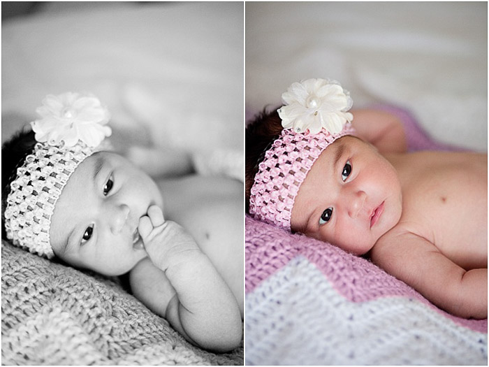 Diptych newborn photography portrait