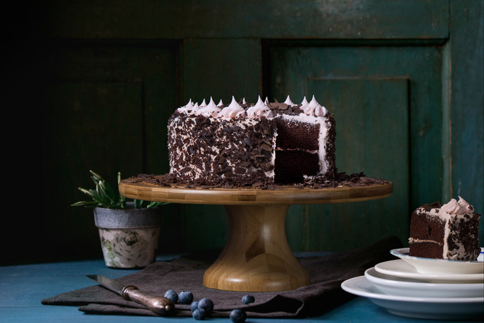 Lucious food photography shot of a chocolate cake - photography marketing ideas