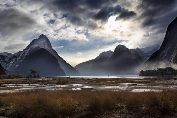 A mountainous landscape image