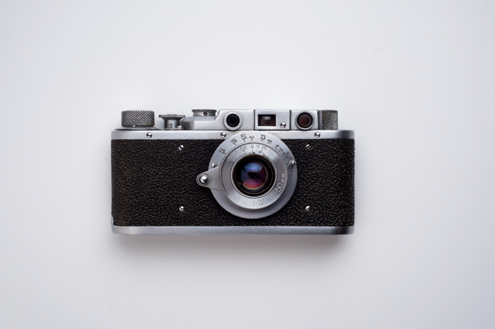 An old film camera on white background - understanding the viewfinder in photography