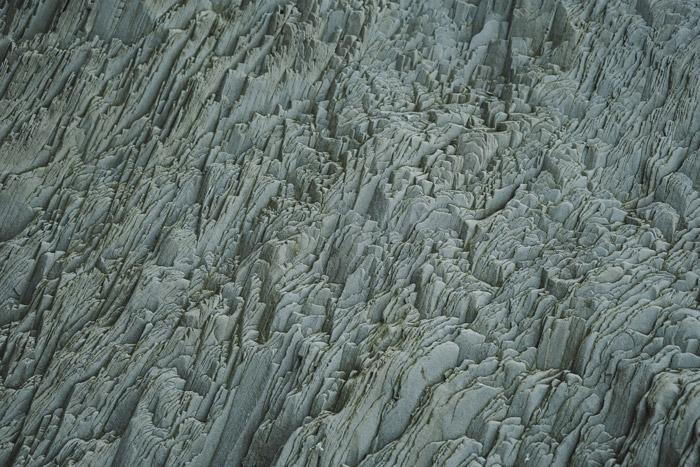 Uma fotografia atmosférica abstrata da natureza com foco na textura