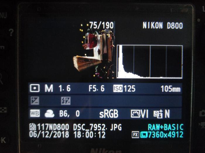Camera settings for shooting Christmas lights still life