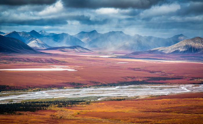 A fall Photography shot of Noatak Preserve showing Kelly River in Alaska