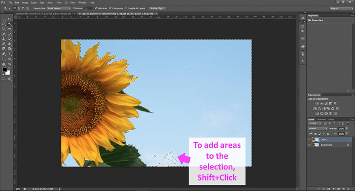 a screenshot showing how to edit photos in Photoshop for beginners