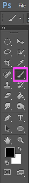 a screenshot showing the brush tool in Photoshop