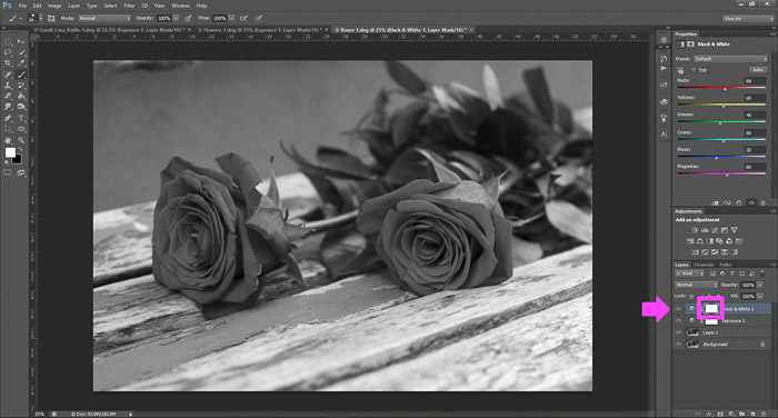 a screenshot showing how to use masks in Photoshop for beginners