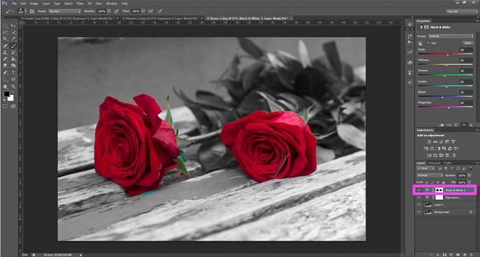 a screenshot showing how to edit photos in Photoshop for beginners - masking