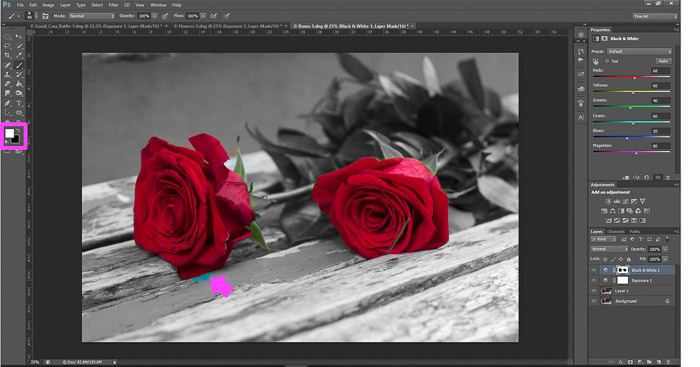 a screenshot showing how to edit photos in Photoshop for beginners - remove mask