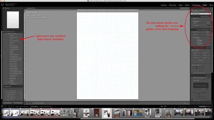 Una captura de pantalla que muestra cómo crear un collage de Lightroom