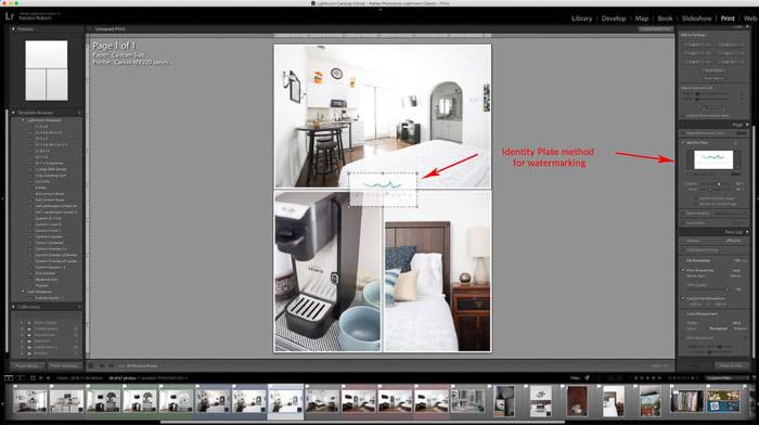 Una captura de pantalla que muestra cómo crear un collage de fotos Lightroom