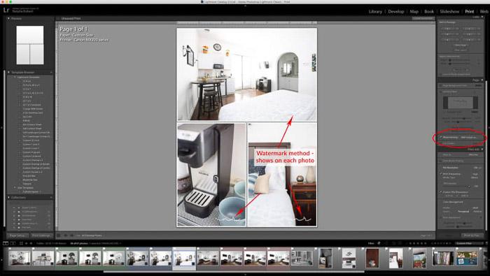 Una captura de pantalla que muestra cómo crear un collage de fotos en Lightroom